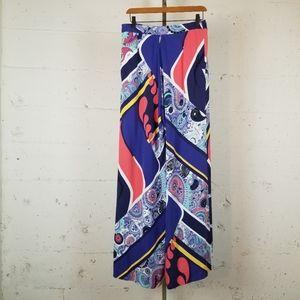 Fabulous long wide leg silk pajama pants